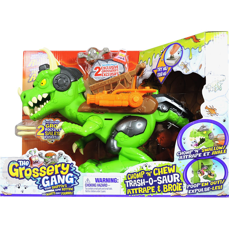Grossery Gang Time Wars Playset - Chomp 'n' Chew Trash-O-Saur