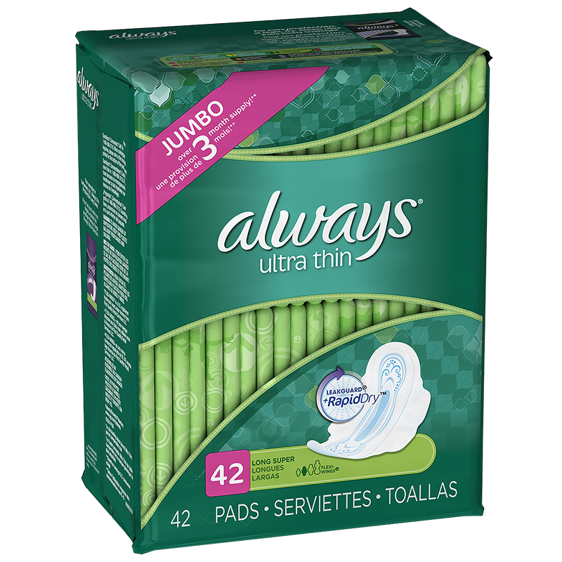 Always Ultra Thin Pads - Long Super - 42's