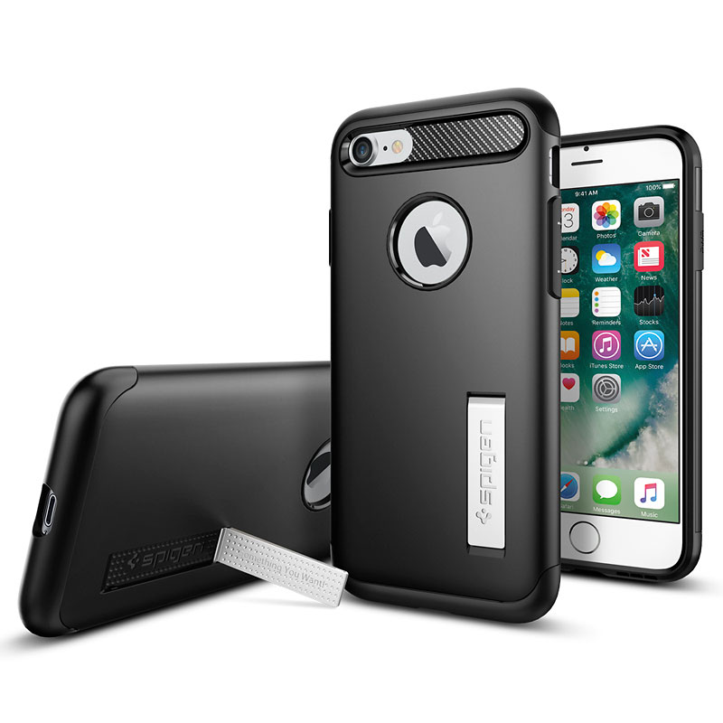 Spigen Slim Armor for iPhone 7 - Black - SGP042CS20647