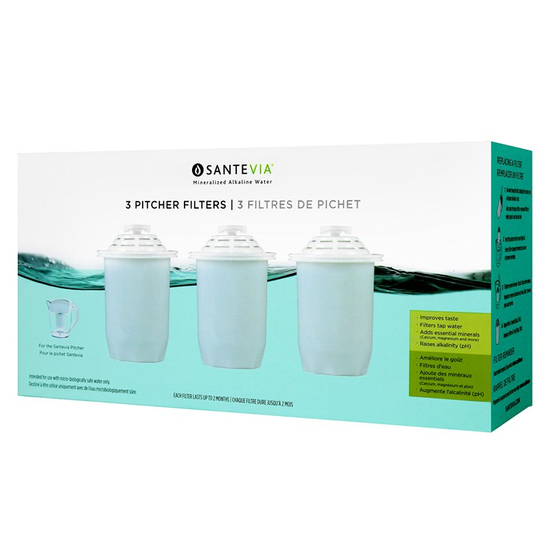 Santevia Alkaline Filter - 3 pack
