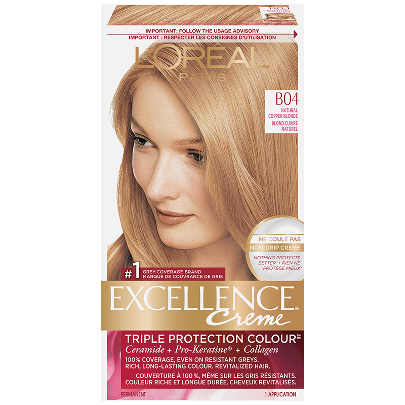 L'Oreal Excellence Creme - B04 Natural Copper Blonde