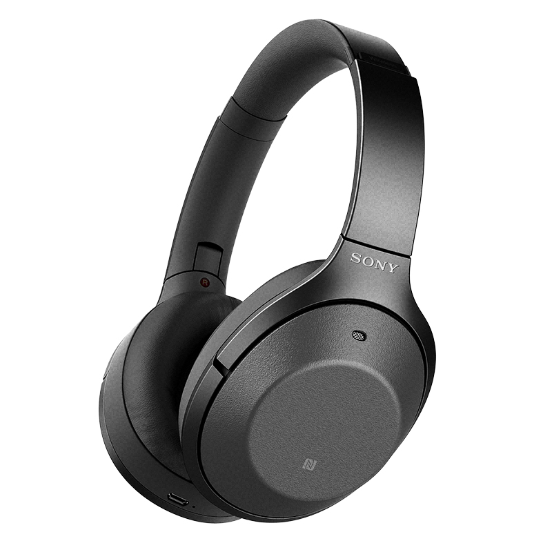 Sony Bluetooth Noise-Cancelling Hi-Res Headphones - Black - WH1000XM2B