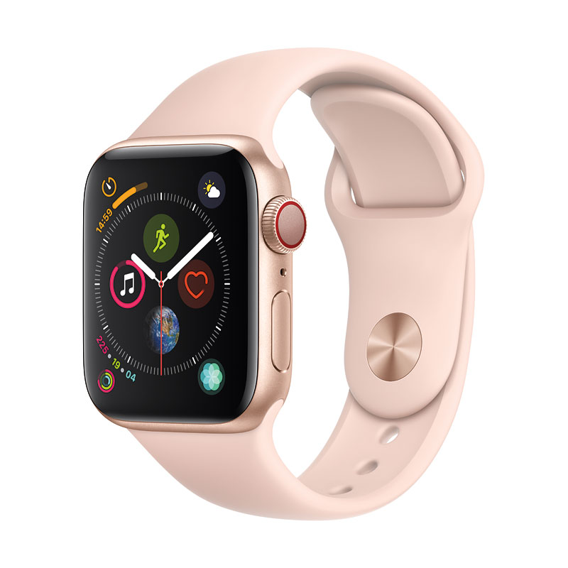 Apple Watch Series 4 - GPS + Cellular -  40mm - Gold/Pink Sport Band - MTUJ2VC/A
