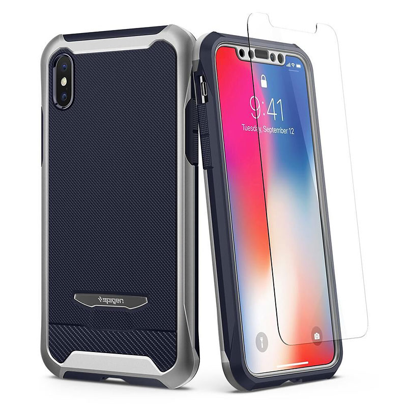 Spigen Reventon Case for iPhone X - Silver - SGP057CS22648