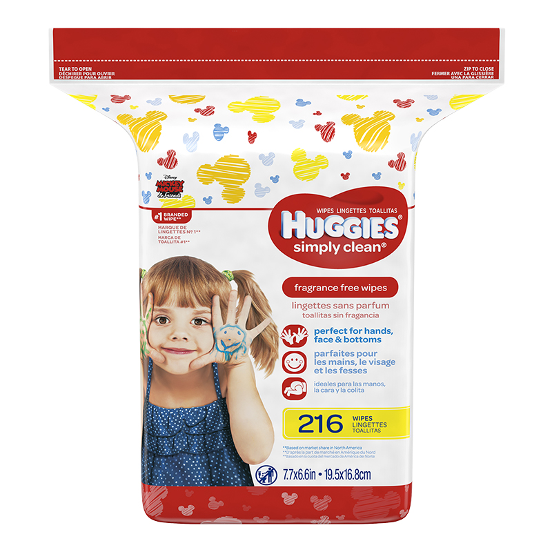 Huggies Simply Clean Wipes - Refills - 216's