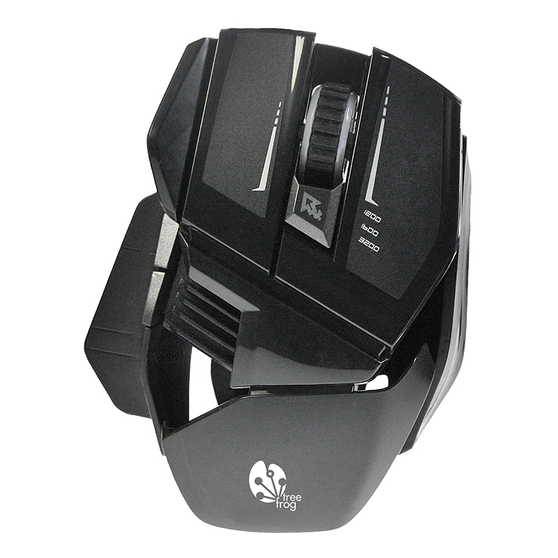 Tree Frog 7 Button Gaming Mouse - Black - GM20BK