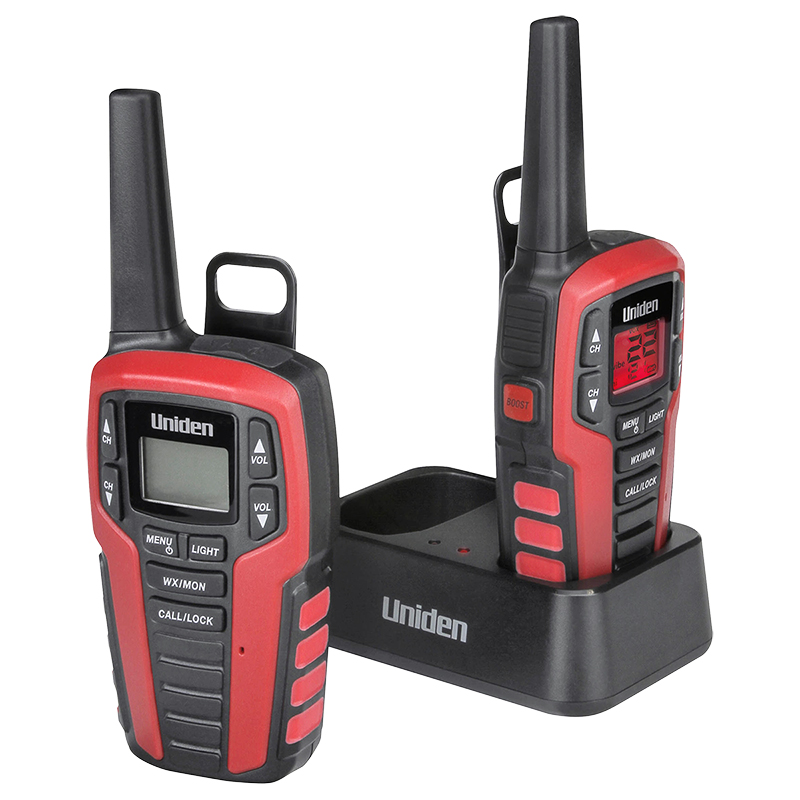 Uniden GMRS Radio Kit - Red/Black - SX3272CK