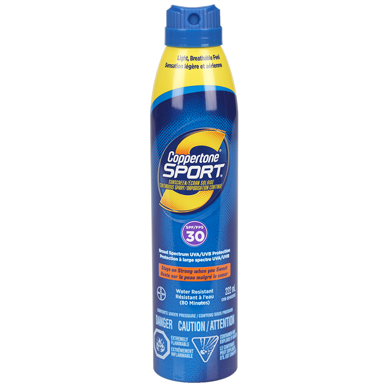 Coppertone Sport Continuous Spray Sunscreen - SPF30 - 177ml
