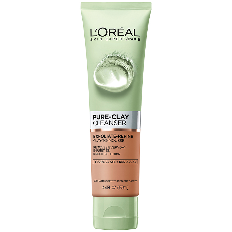 L'Oreal Pure-Clay Cleanser - Exfoliating & Refining - 130ml