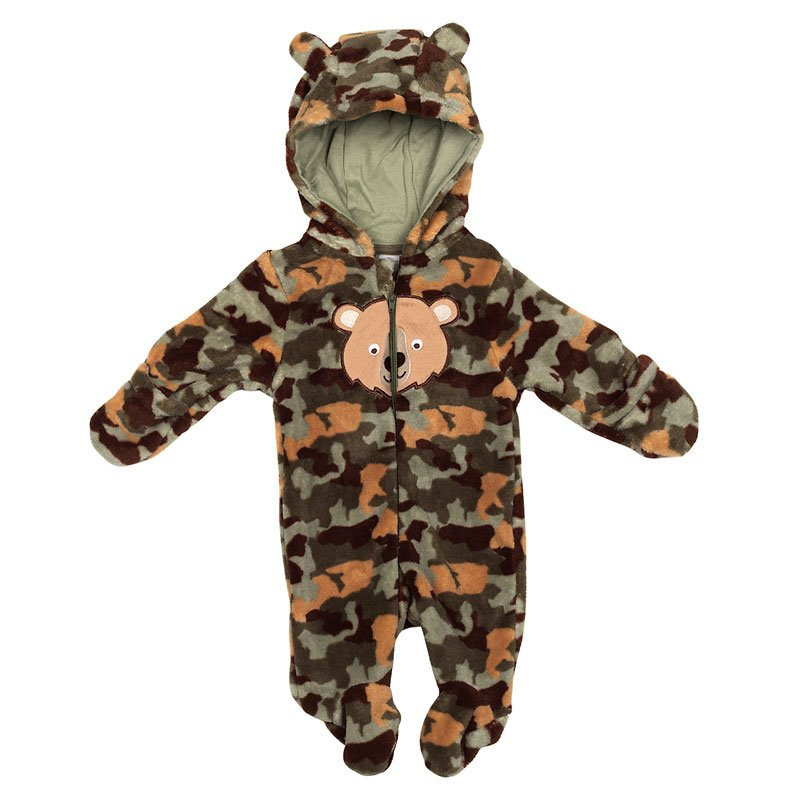 Baby Mode Bear Pram Suit - 11128 - Assorted