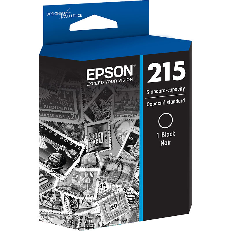 Epson 215 Standard-Capacity Ink Cartridge - Black - T215120