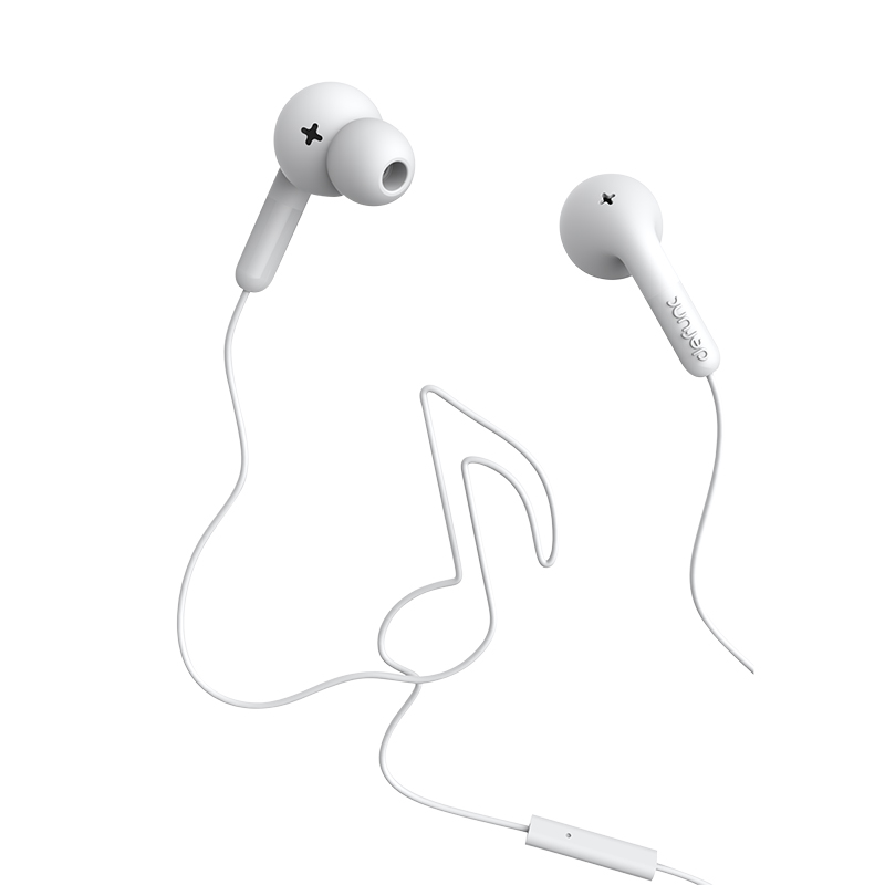 DeFunc Go MUSIC Earphones - White - DFD0132