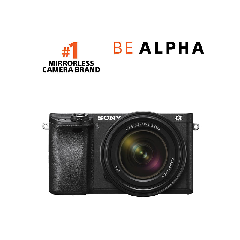 PRE-ORDER: Sony a6300 with 18-135mm Lens - Black - ILCE6300M/B