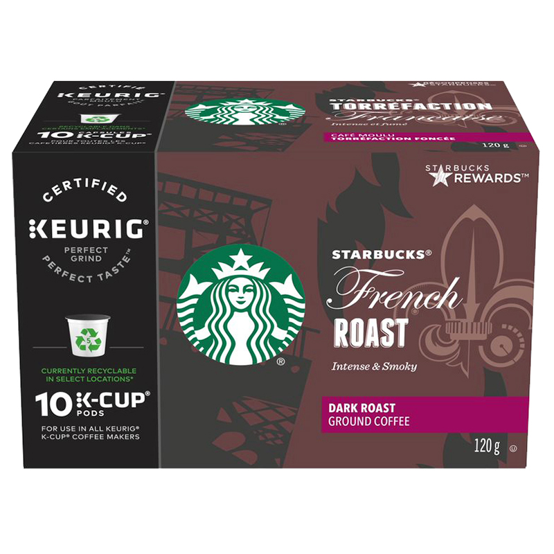 Starbucks K-Cup French Roast Coffee - 10 Pods