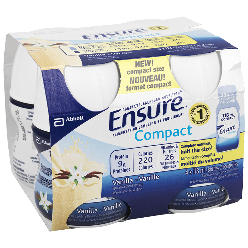 Ensure Compact Vanilla - 4 x 118ml