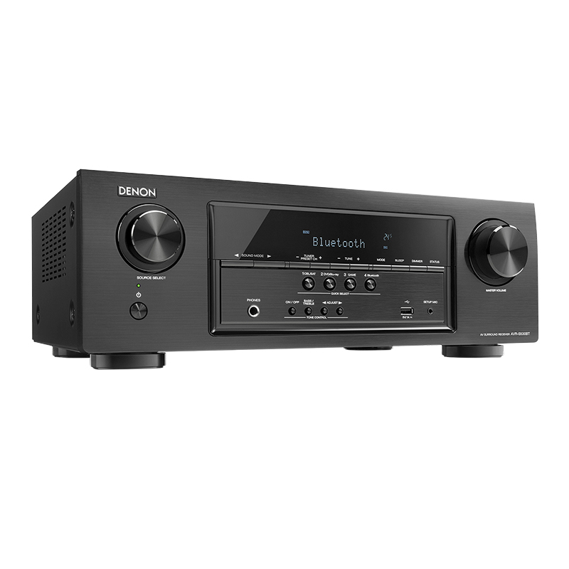 Denon 5.2-ch 4K UHD A/V Receiver with Bluetooth - Black - AVR-S530BT
