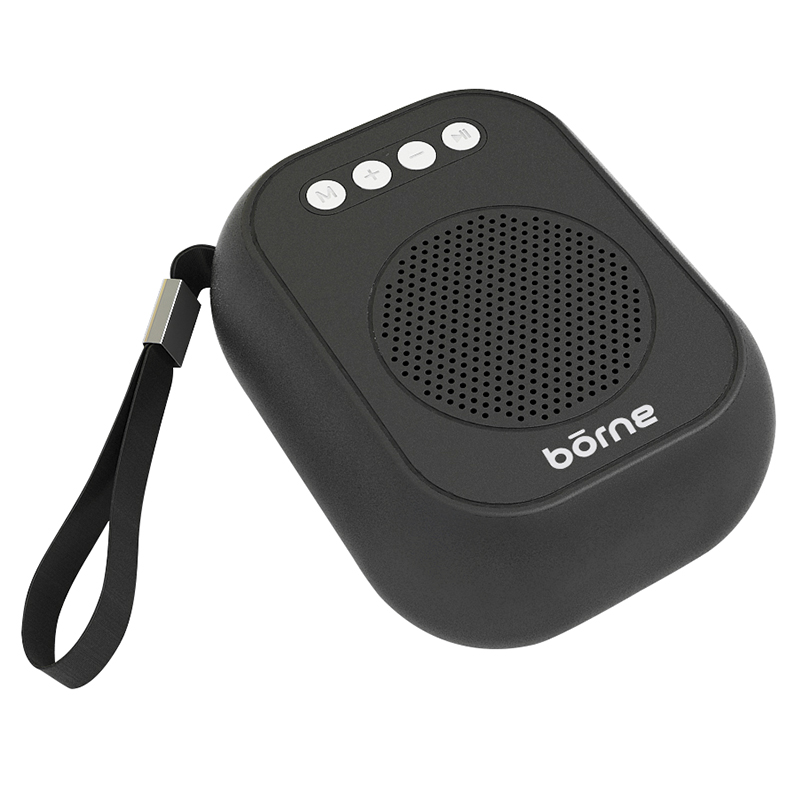 Borne Bluetooth Pocket Speaker - Black - BTSPK34