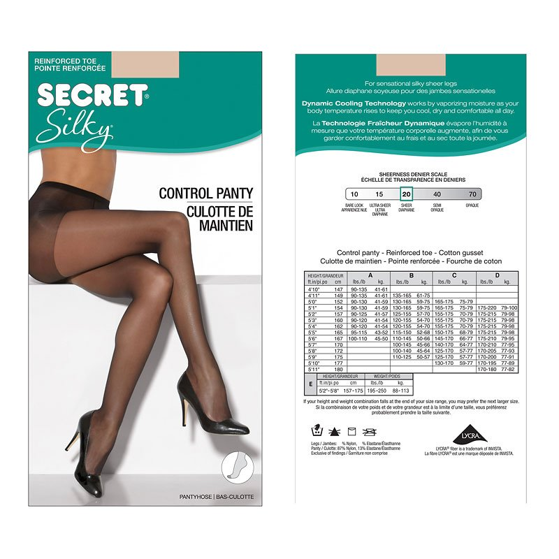Secret Silky Control Top Panty Hose