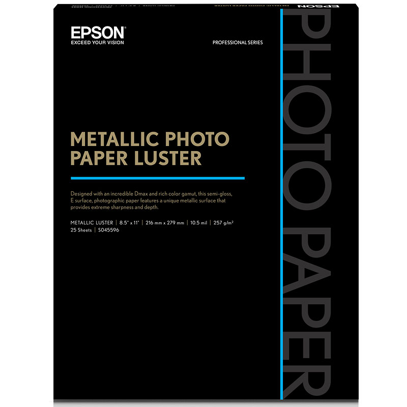Epson Metallic Photo Paper - Luster - 8.5x11inch - 25 sheets - S045596