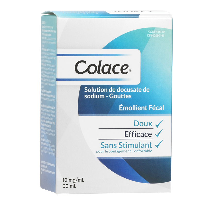 Colace Docusate Sodium Solution Drops Stool Softener 10mg - 30ml