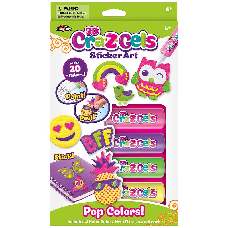 CRA-Z-GELS Pop Colours 3D Sticker Art