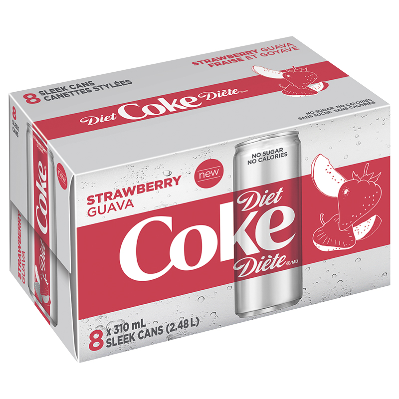 Diet Coke - Strawberry Guava - 8X310ml