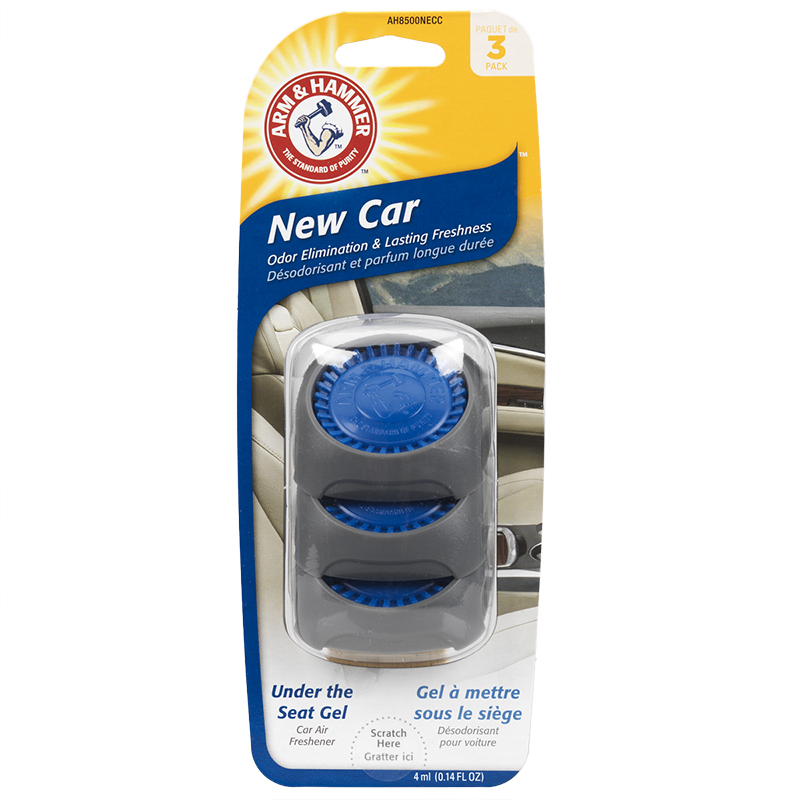 Arm & Hammer Under the Seat Air Freshener - New Car - 3 pack