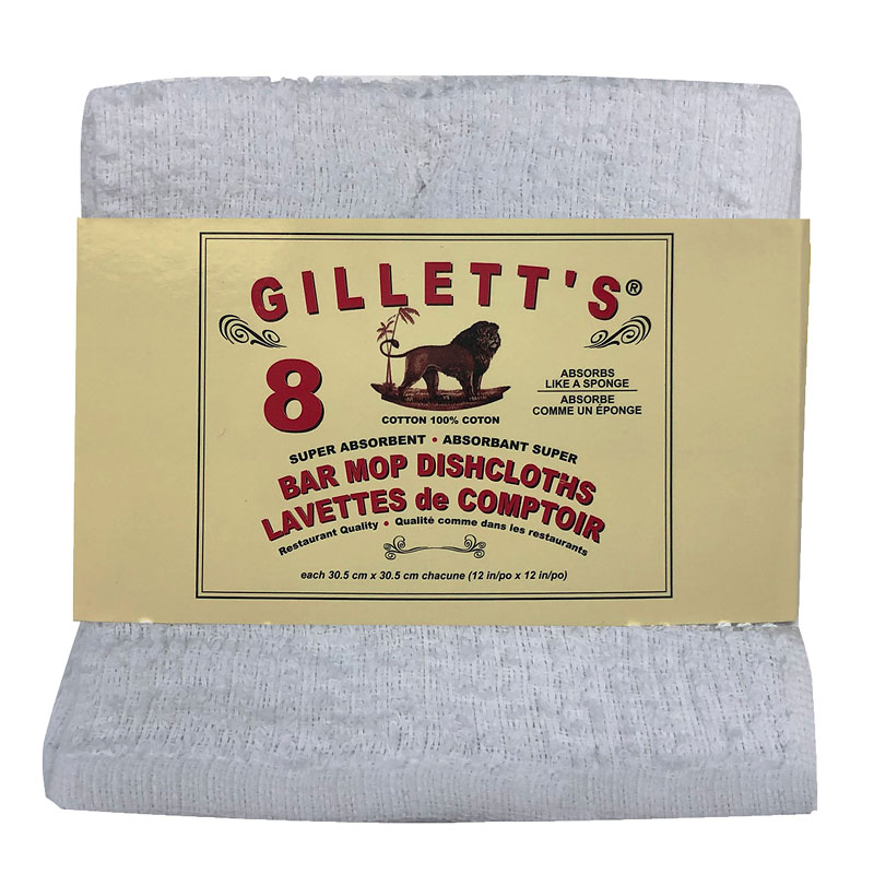 Gilletts Bar Mop Cloths - 8 pack