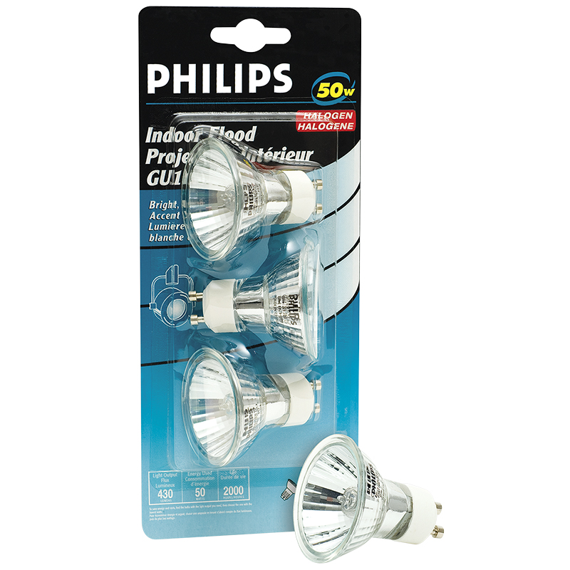 Philips Halogen MRC16 Replacement Bulb - 50W - 3 pack