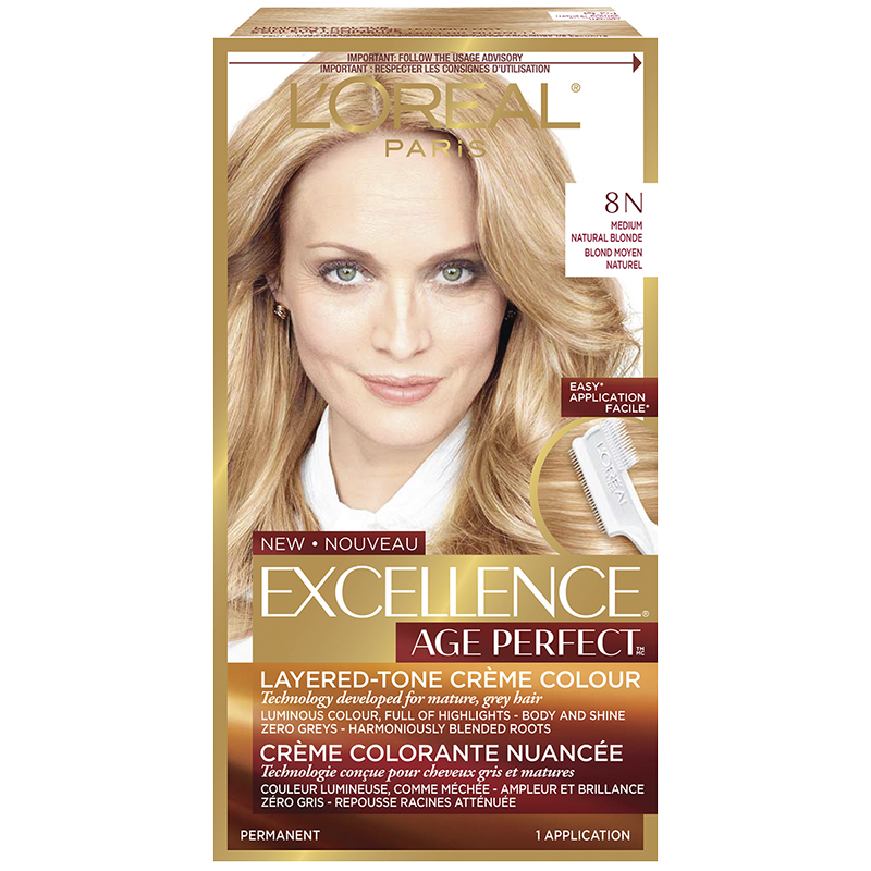 L'Oreal Excellence Age Perfect Creme Colour - 8N Medium Natural Blonde