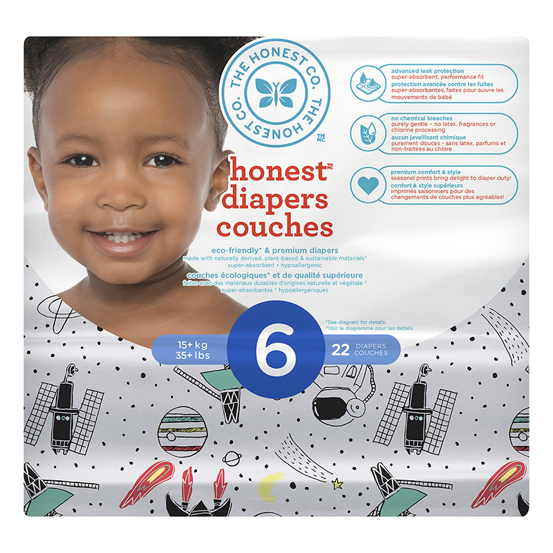 The Honest Company Honest Diapers - Size 6 - 22s - Space Print