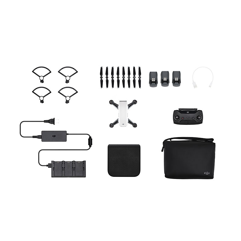 DJI Spark Fly More Combo and Battery Bundle - White - PKG #25561