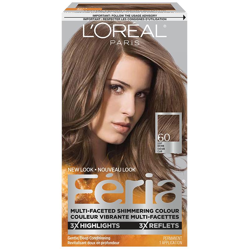Loreal Feria Hair Colour 60 Light Brown London Drugs