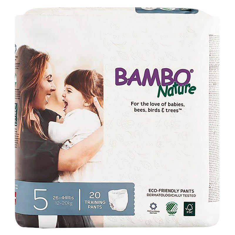 Bamboo Nature Training Pants - Size 5 - 20's