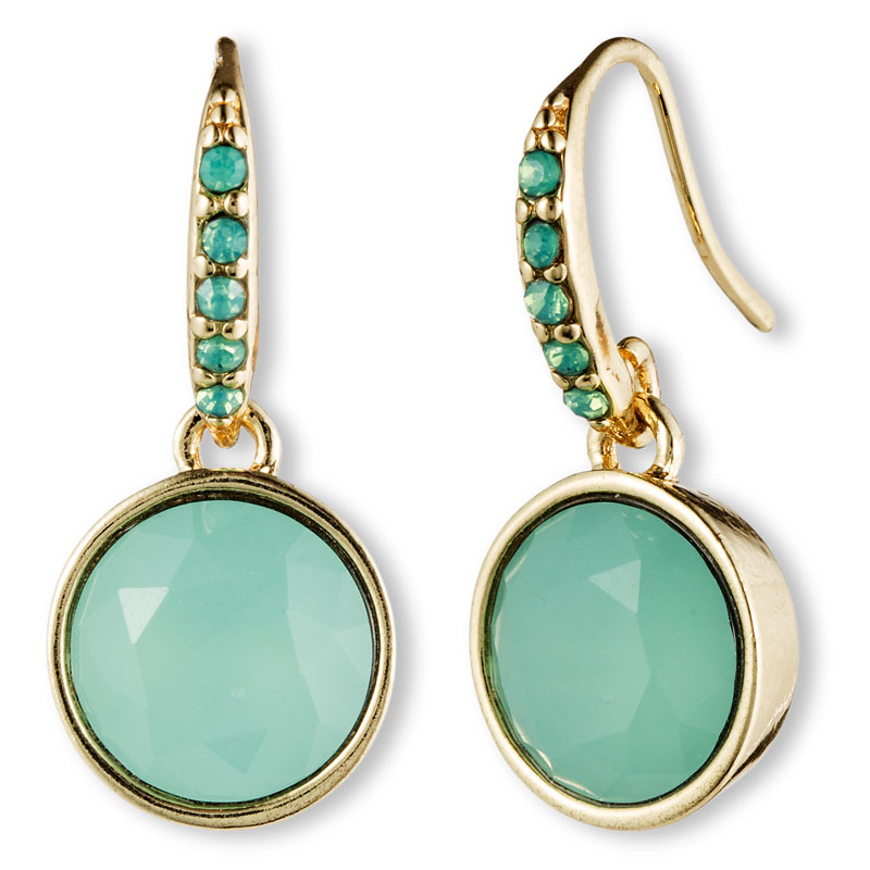 Lonna & Lilly Crystal Drop Earrings - Turquoise