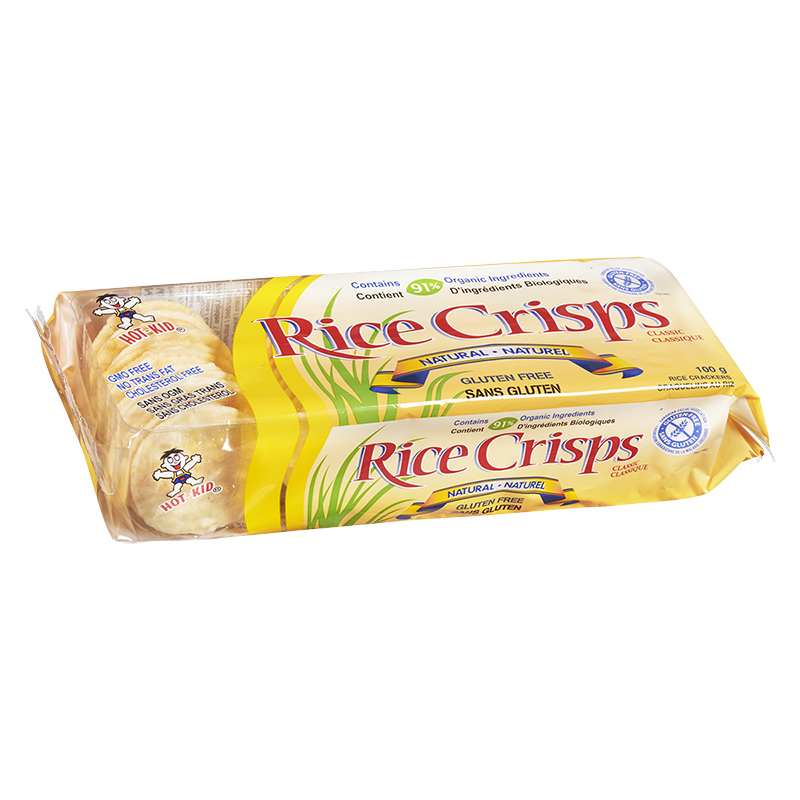 Hot-Kid Rice Crisps - Natural - 100g