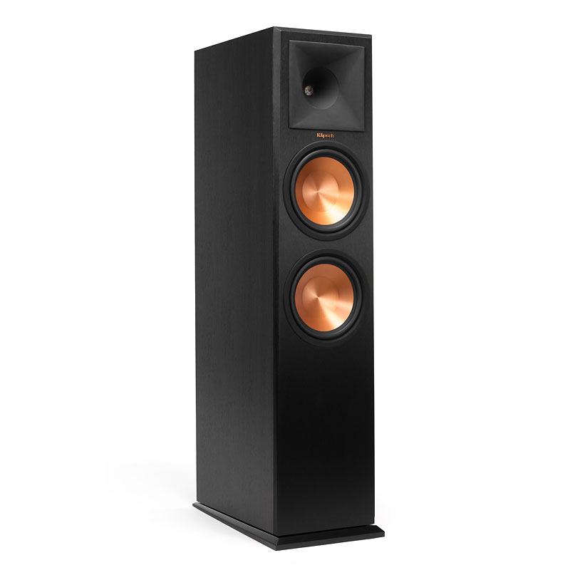 Klipsch Dual 8-in Tower Speaker - Ebony - RP280FB