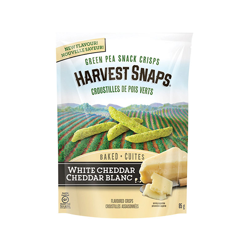 Calbee Harvest Snaps Green Pea Crisps - White Cheddar - 85g