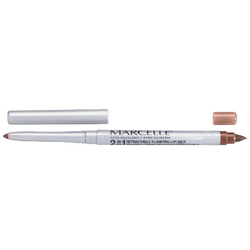 Marcelle 2-in-1 Retractable Plumping Lipliner - Perfect Nude