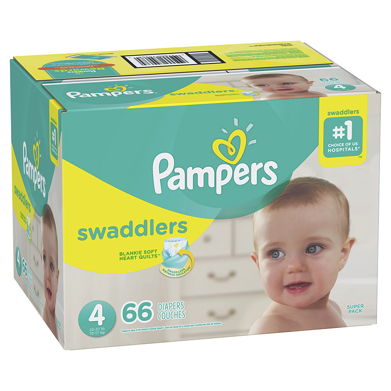 Pampers Swaddlers Diapers - Size 4 - 66's