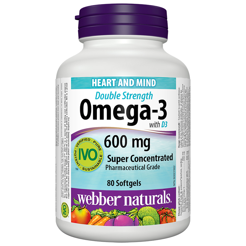 Webber Naturals Double Strength Omega 3 - 600mg - 80's