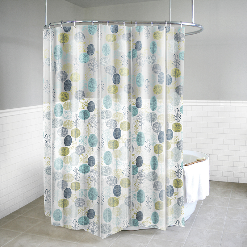 Splash Vinyl Shower Curtain - Parkland Blue