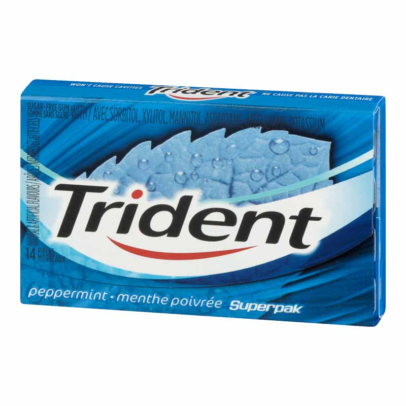 Trident Gum - Peppermint - 14 pieces