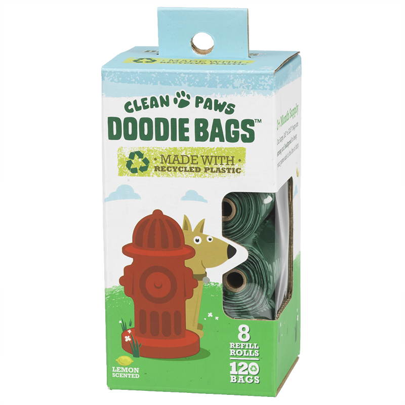 Clean Paws Doodie Bags Refill - 8 Rolls