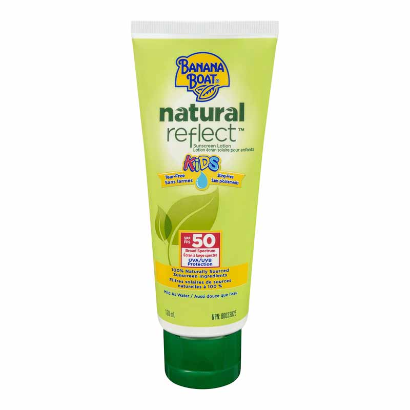 Banana Boat Natural Reflect Kids Sunscreen Lotion - SPF 50 - 120ml