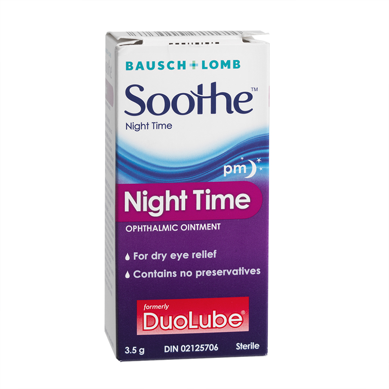 Bausch & Lomb Soothe Night Time Ophthalmic Ointment - 3.5g