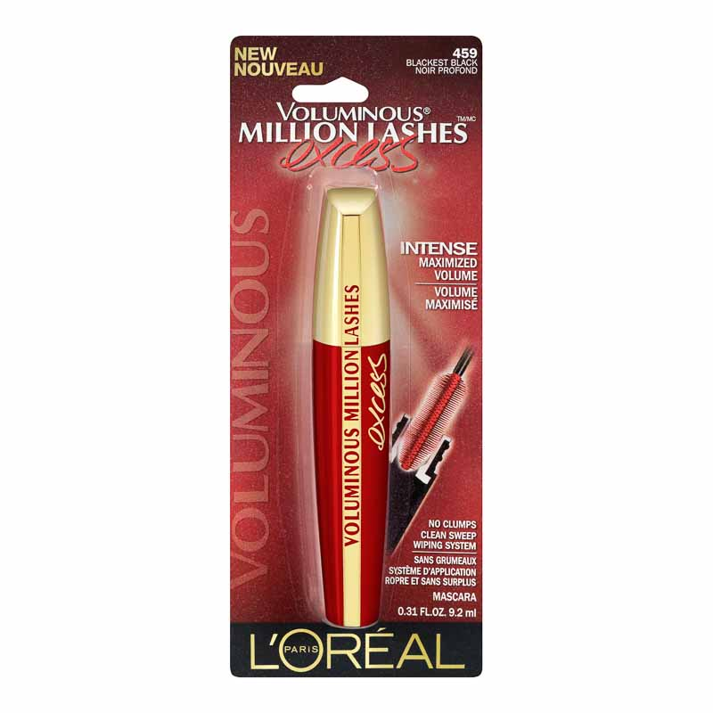 L'Oreal Voluminous Million Lashes Excess Mascara - Blackest Black