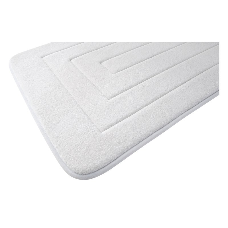 Splash Memory Foam Mat - White