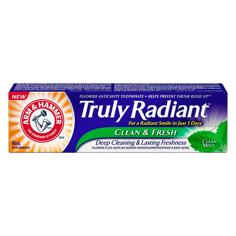Arm & Hammer Truly Radiant Toothpaste - Clean & Fresh - 90ml