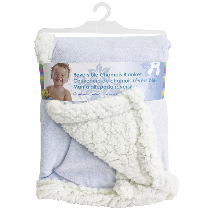 Honey Bunny Reversable Chamois Blanket - Assorted